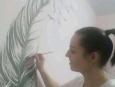Росписи и надписи в интерьере